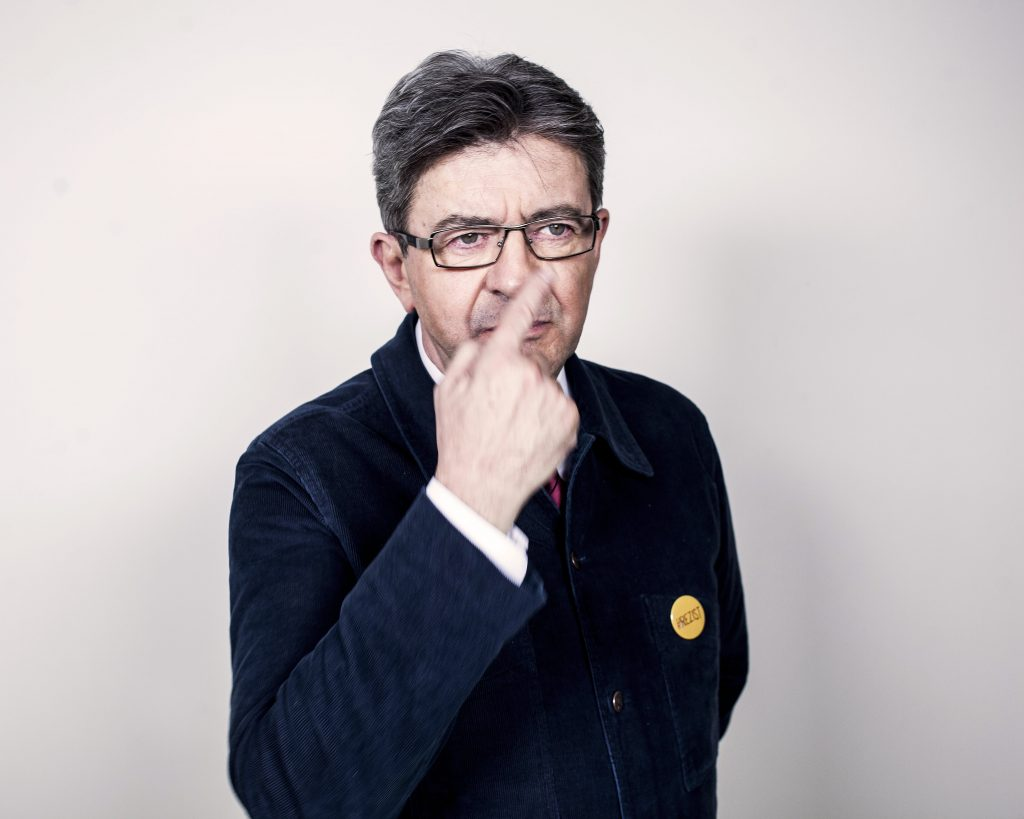 PARIS, FRANCE - March 05: Politic Jean Luc Melenchon poses during a photo-shoot on March 05, 2017 in Paris, France. (Photo by Stephane Grangier/Corbis via Getty Images)