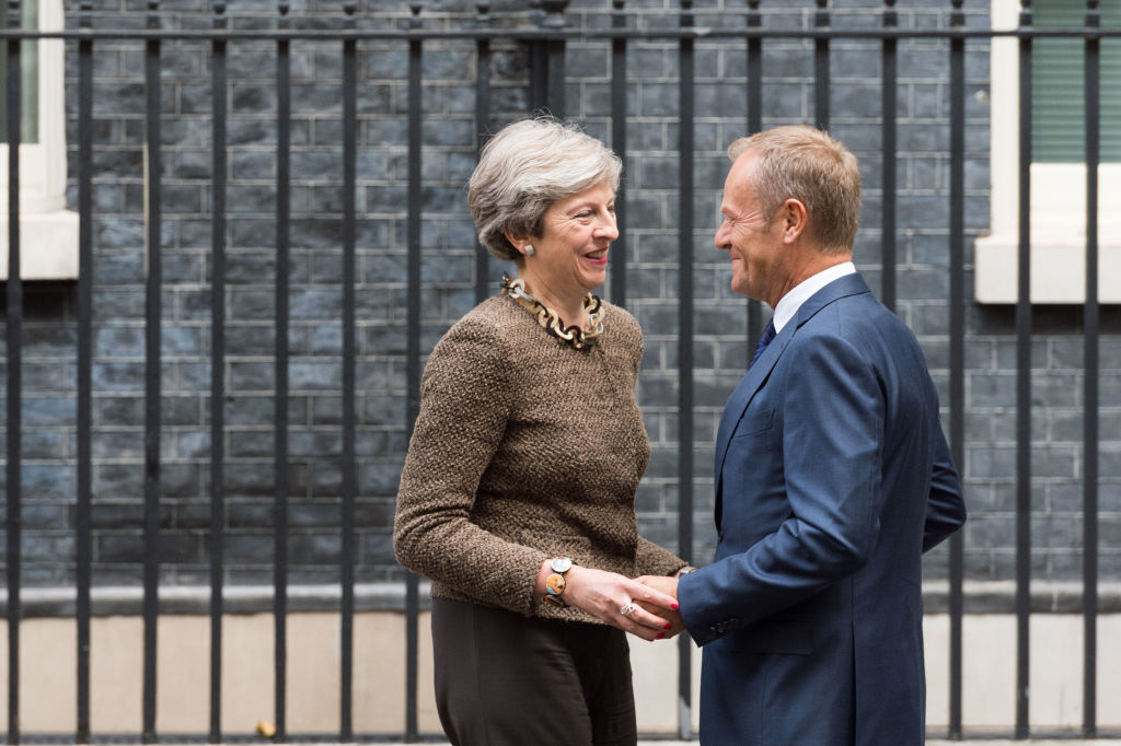 Theresa May & Donald Tusk © Wiktor Szymanowicz / Barcroft Media/Getty Images