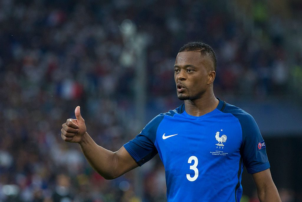 LYON, FRANCE - JULY 07: France's Patrice Evra during the UEFA Euro 2016 Semi-final match between Germany and France at Stade de Lyon on July 07 in Marseille, France. (Photo by Craig Mercer/CameraSport via Getty Images)